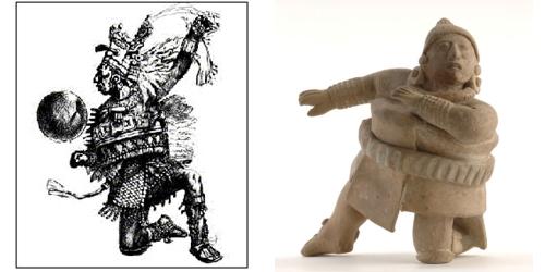 古代の球技をしていた人