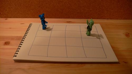 陣取りゲームのイメージ図