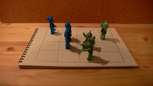 陣取りゲームのイメージ