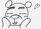照れるクマ