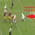 NFL week1 MIA@WAS タネヒルがファンブルしてキョロキョロする