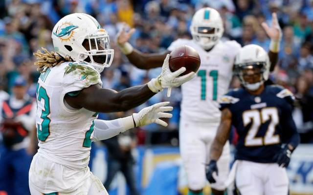 NFL 2015 week15 Dolphins Chargers Football