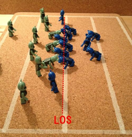 オフェンスラインの動きでプレーを見やぶる方法