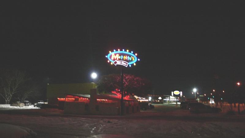 ダラス郊外のロードサイドにあったレストラン