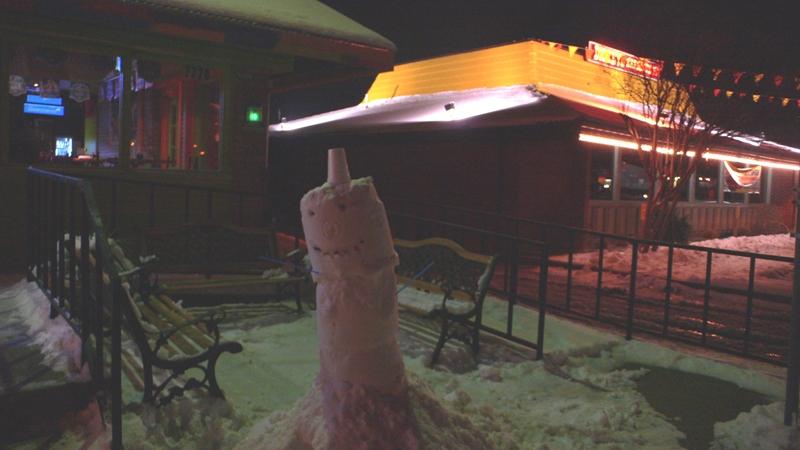 ダラスの雪だるま