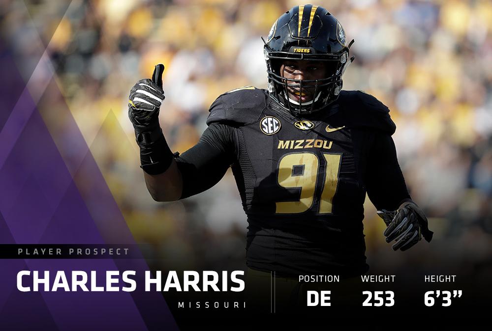 マイアミドルフィンズの2017年ドラフト1位指名、チャールズ・ハリス