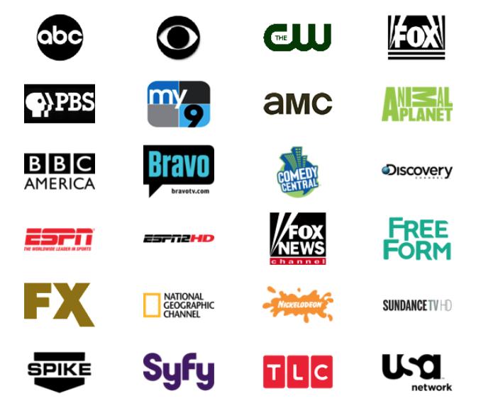 アメリカのテレビストリーミングサービスUSTV NOWで見られるチャンネル